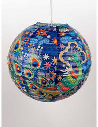 Peacock Home Decor Shop Peacock Hanging Paper Lantern Blue Q Home Gifts Decor