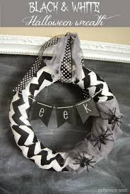 Black Halloween Wreath Gallamore West Black U0026 White Halloween Wreath