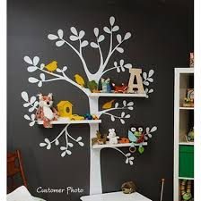 Tree Decal For Nursery Wall Shelving Tree Nursery Wall Decal Aftcra