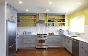 Navy Blue Kitchen Decor Grey Kitchen Cabinets Yellow Walls Kitchen Decoration