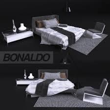 furniture bed in modern style bonaldo 3d cgtrader