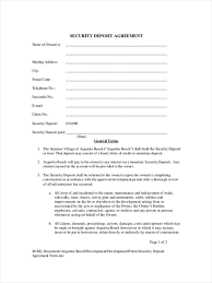 9 security deposit form samples free sample example format