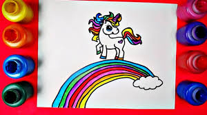 rainbow unicorn coloring page inspired by draw so cute unicorn