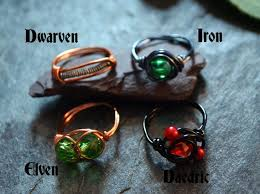 rings fashion skyrim images Skyrim themed wire wrapped rings dwarven iron elven and jpg