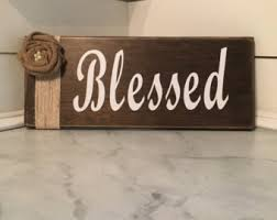 Plaques For Home Decor Blessed Sign Etsy