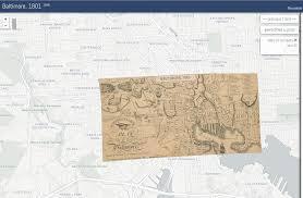 Baltimore City Council District Map Thomas Poppleton U0027s Baltimore 1812 1837 Thomas Poppleton U0027s