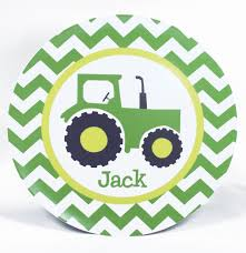 personalized dinnerware tractor personalized melamine dinnerware set plate bowl or cup