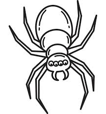 spider huge abdomen royalty free clipart picture