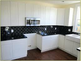 subway tiles backsplash kitchen black tile backsplash kitchen black subway tile home design ideas