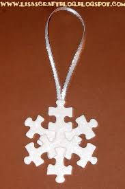 diy puzzle snowflake ornament crafts i would to make