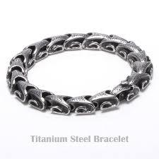 stainless steel snake bracelet images Mens punk snake chains pulseras titanium 316l stainless steel jpg