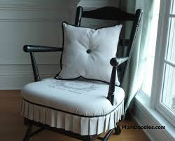 Rocking Chair With Cushions Early American To French Country Rocking Chair Makeover