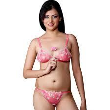 buy little india wild pink sensual imported net bra panty set