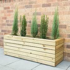 bel étage linear long timber planter box u0026 reviews wayfair co uk