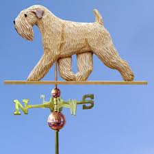 soft coated wheaten carved painted basswood