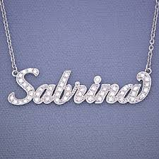 necklace pendant names images Gold personalized diamond name necklace jpg