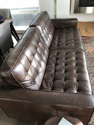 Tufted Brown Leather Sofa Bray Button Tufted Brown Leather Sofa Furniture In Seattle Wa
