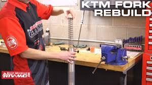 how to rebuild ktm husqvarna wp bladder style forks youtube