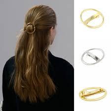 hair barrette 12 pcs gold silver color metal hair barrette circle
