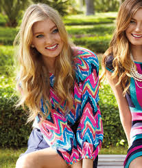 dresses from lilly pulitzer presented by elsa hosk
