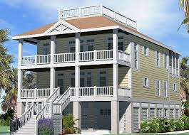 porches cottage piling foundation roof deck 2900 sf southern
