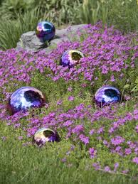 Gazing Ball And Stand Gazing Balls Blue U0026 Purple Set Of 5 Stainless Steel
