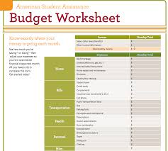 Samples Of Budget Spreadsheets by Personal Financial Budget Worksheet Wolfskinmall