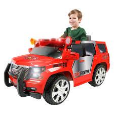 toy jeep car rollplay gmc yukon denali fire rescue 6v battery powered riding