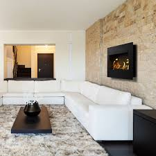 top3 by design icon fires nero 1450 black wall fireplace