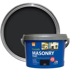colours black smooth matt masonry paint 2 5l departments diy