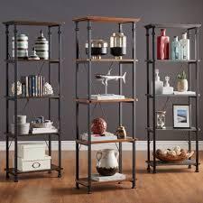industrial bookcases houzz bookshelves industrial wonderfull