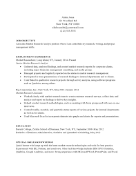 Resume Sample Research Assistant by Market Research Entry Level Resume Samples Vault Com