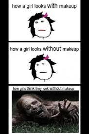 No Makeup Meme - girls with and without makeup
