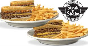 steak n shake two frisco or patty melt sandwiches and fries