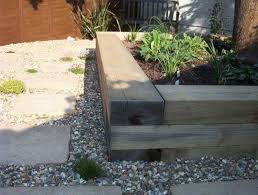 Raised Flower Bed Corners - how to build a raised bed with railway sleepers