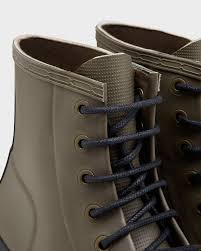 hunter men u0027s original rubber lace up boots in black for men lyst