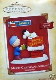 2004 hallmark ornaments merry snoopy peanuts ebay