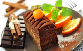 slice chocolate cake wallpaper