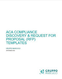 aca compliance discovery document u0026 request for proposal rfp