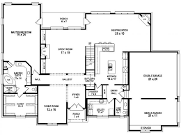 4 bedroom house plan 4 bedroom 3 bath house plans home planning ideas 2017