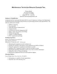 Mechanic Job Description For Resume by Job Maintenance Job Description Resume