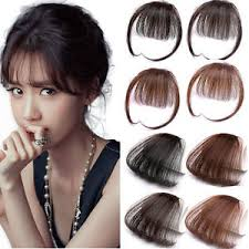 clip in fringe 3g thin neat air bangs human hair extension clip in fringe front