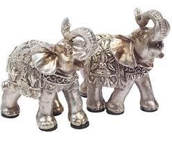 thai elephant ornaments 2 bloom artificial flowers