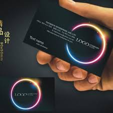 custom black business card printing free design and color two