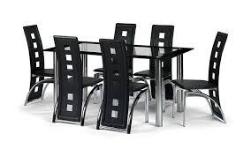 julian bowen brescia faux leather dining chairs black set of 6