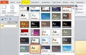 powerpoint 2010 design themes arf stepupheight co