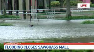 heavy flooding shuts sawgrass mills mall wpec