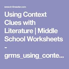 53 best vocabulary images on pinterest vocabulary context clues