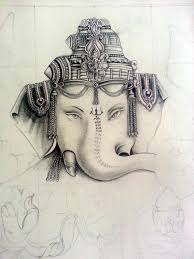 lord ganesh pencil drawing on behance