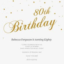 birthday invite template free 80th birthday invitation templates greetings island